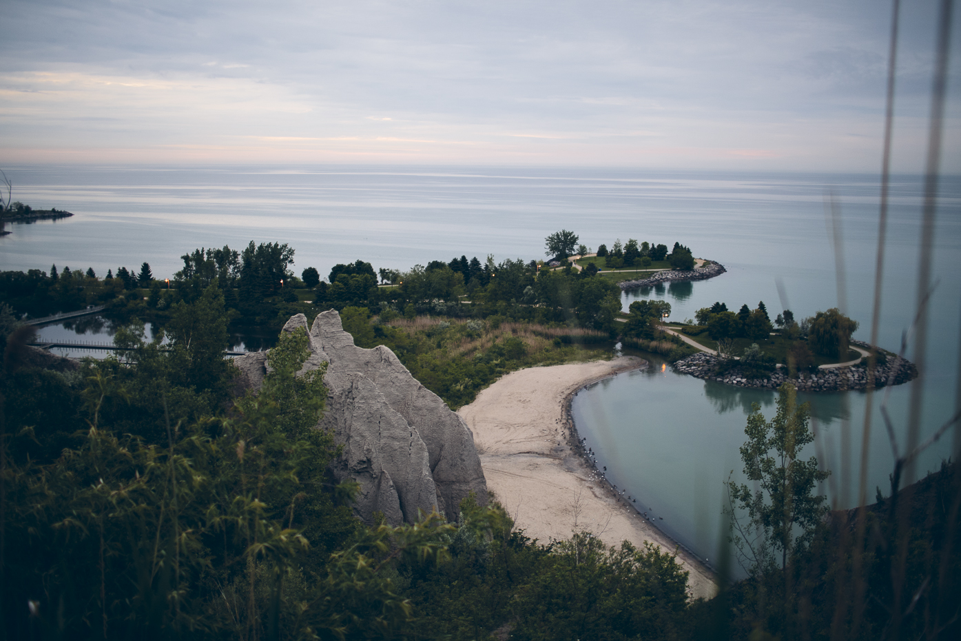 Scarborough Bluffs Park. View from above at sunrise