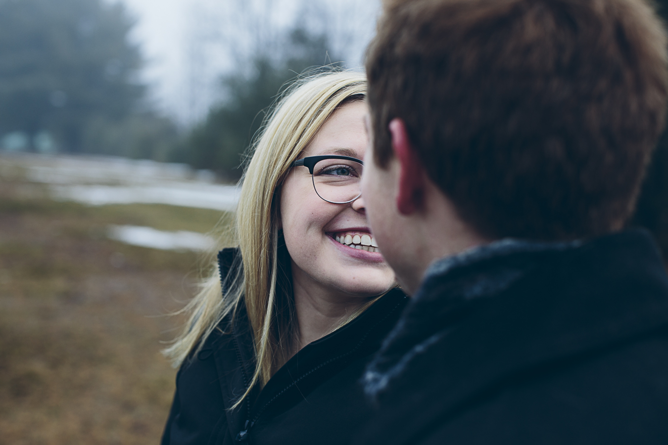 girl smiling at boy