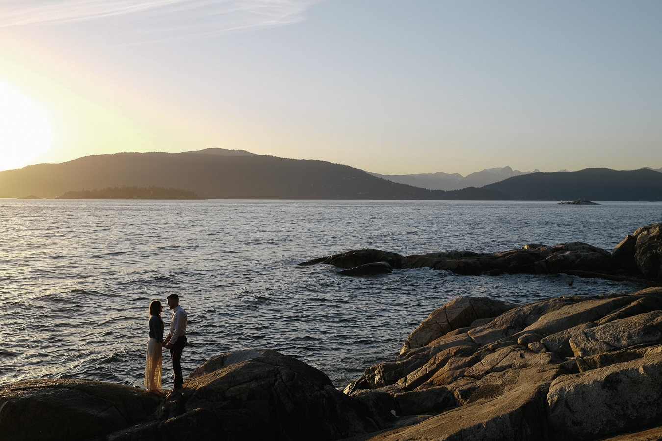 engagement session by the ocean
