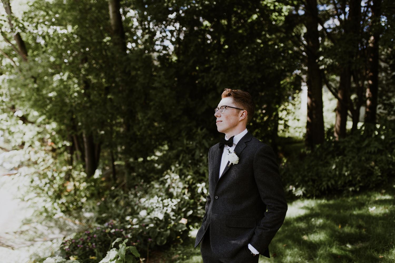 Huntsville, Muskoka Portrait of groom