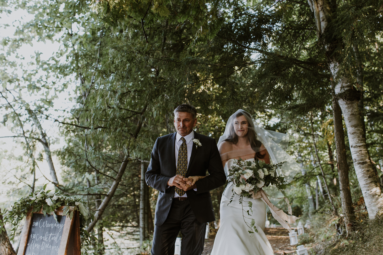 Father walking bride down the isle