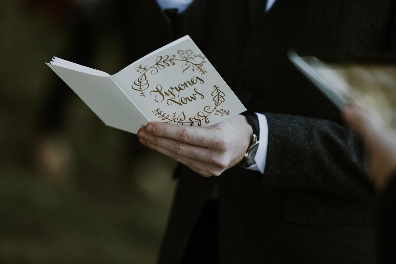 Muskoka Groom reading vows