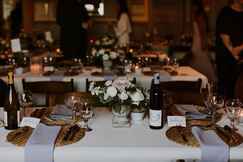 table decor Muskoka wedding