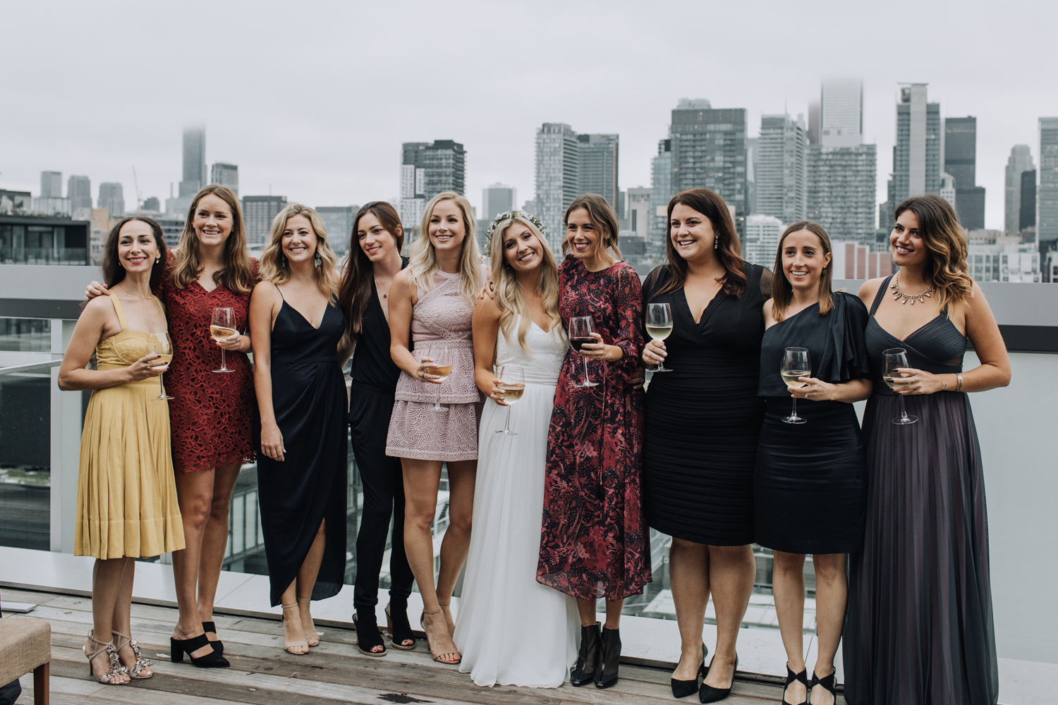 Toronto Thompson hotel rooftop wedding reception