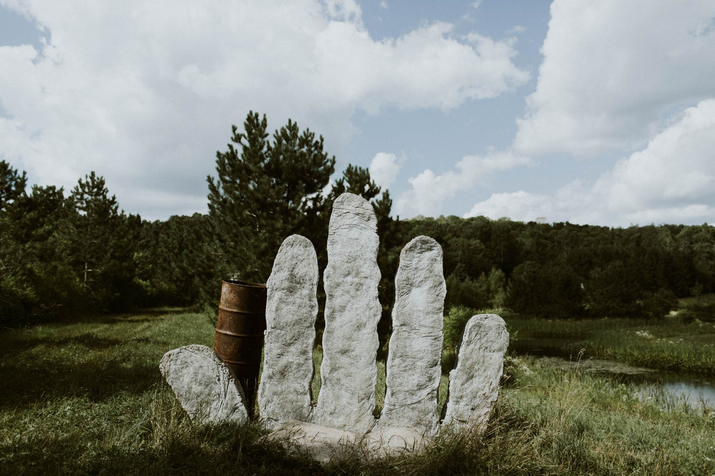 Sculpture at Screaming Heads Muskoka