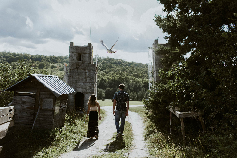 Photographer Engagement at Screaming Heads Muskoka Castle