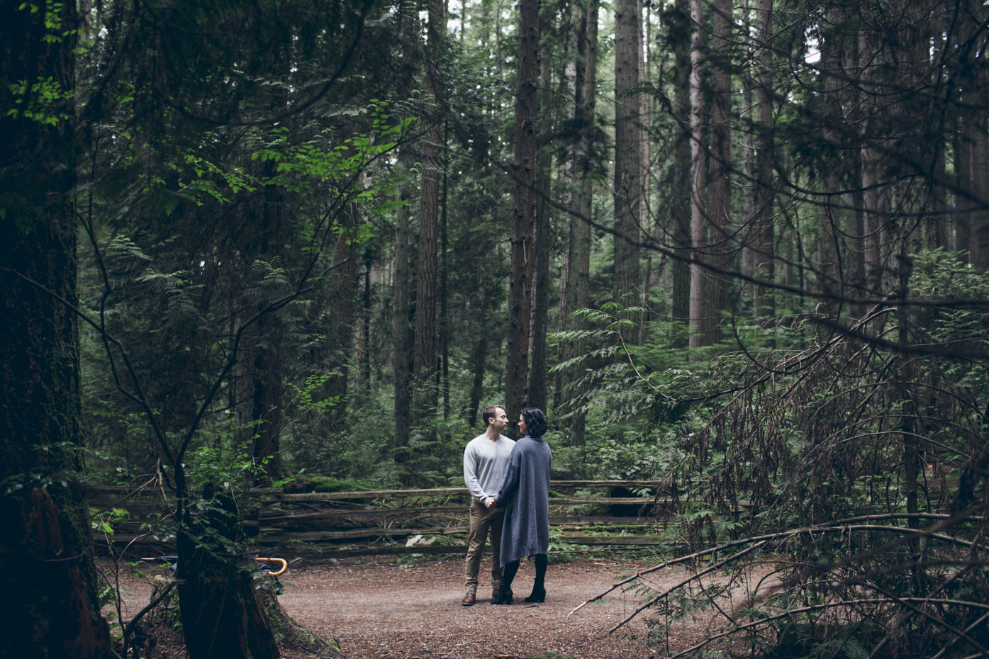 Engaged Couple at UBC Endowment Lands, Vancouver