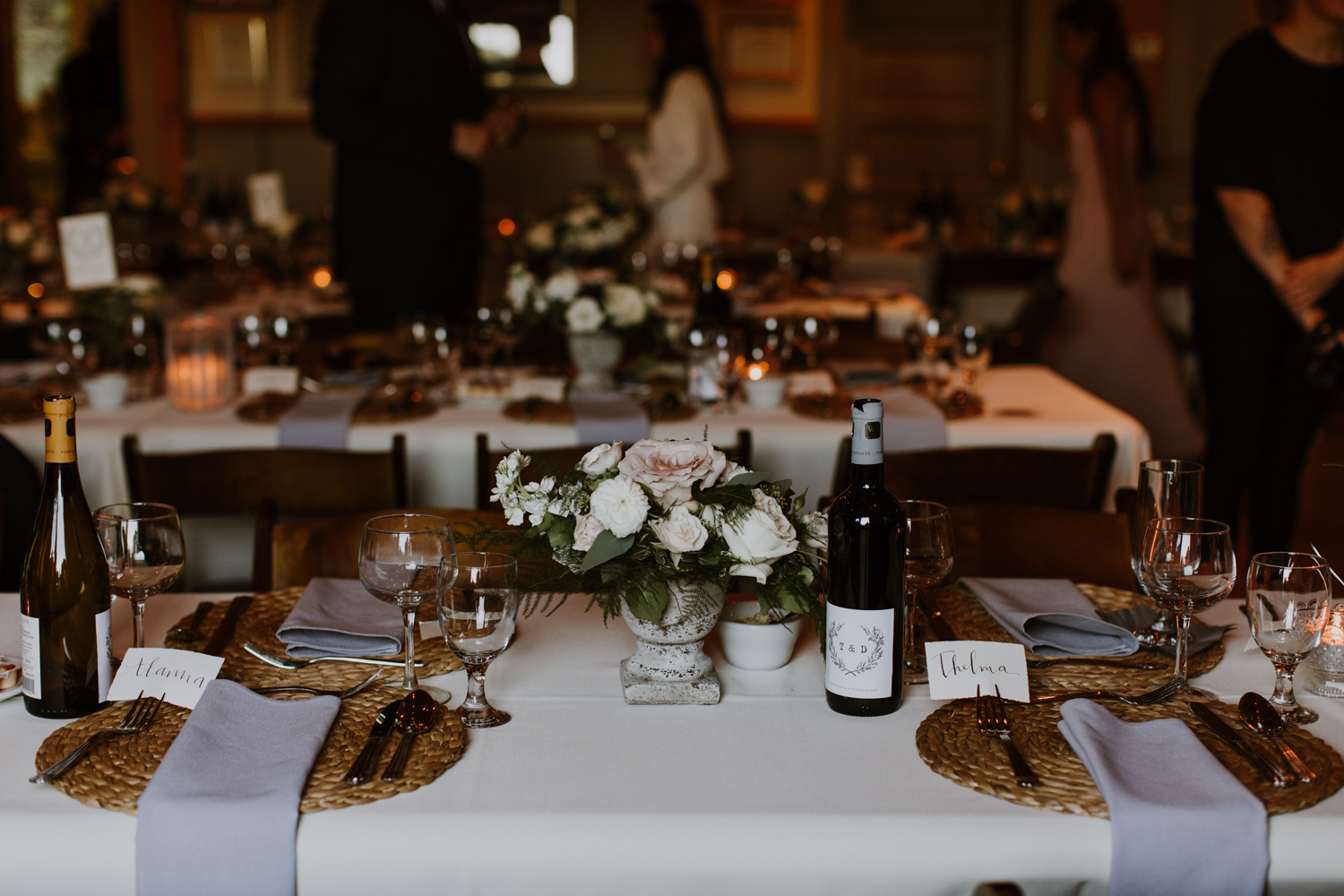 table decor Muskoka wedding