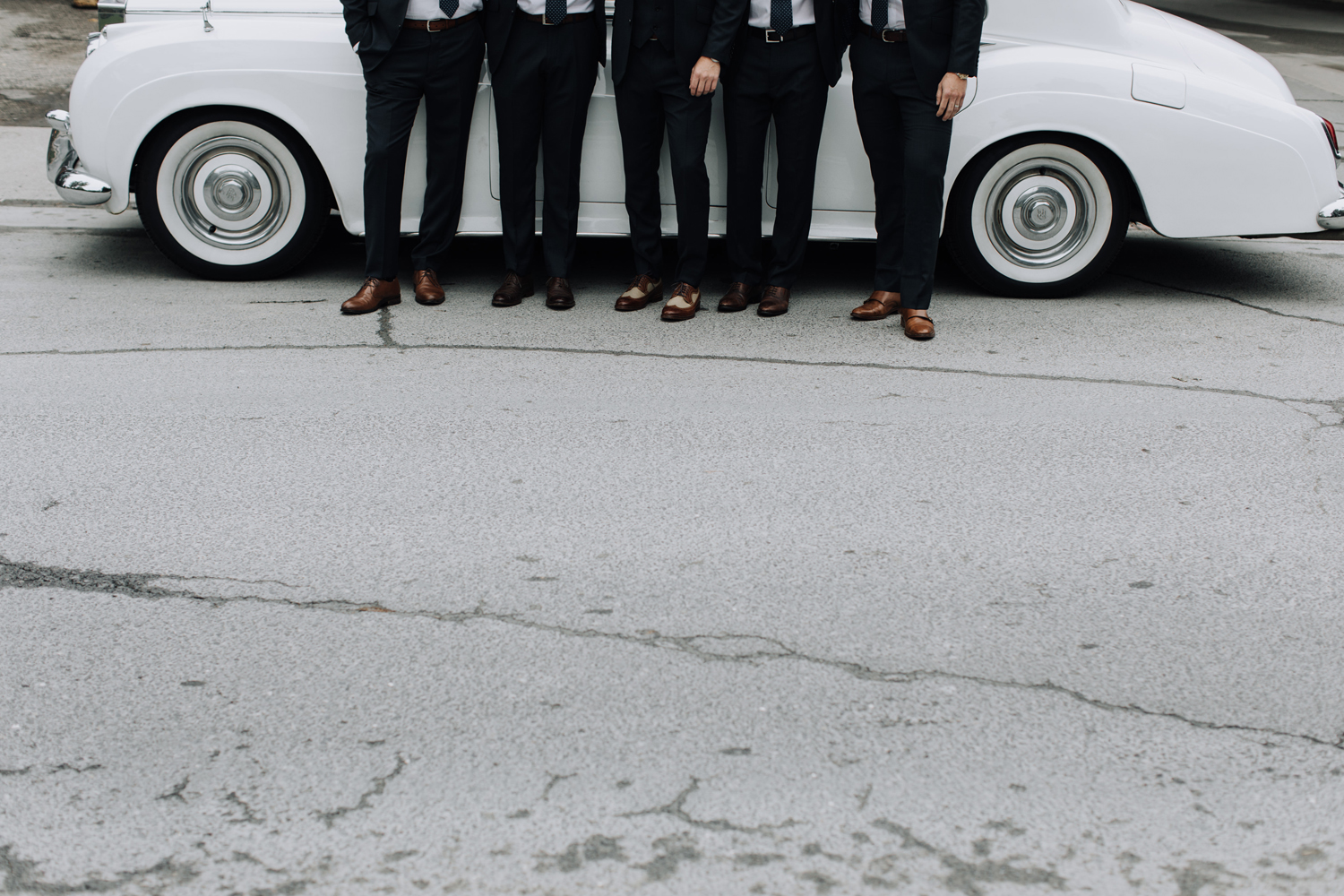Limo service wedding groomsmen car