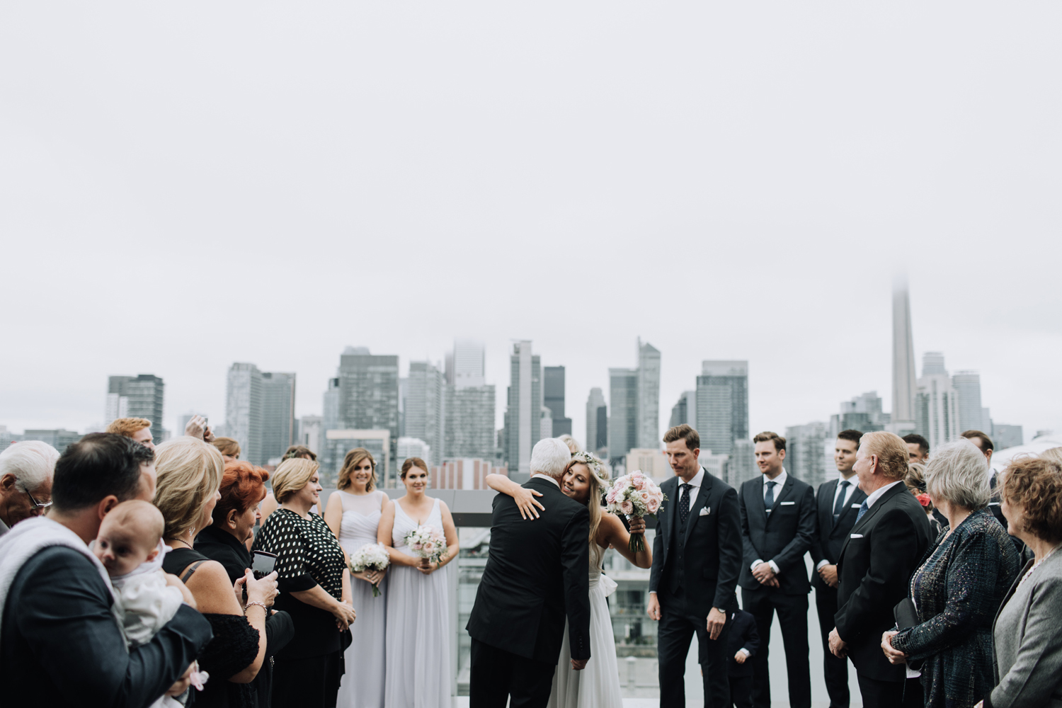 thompson hotel rooftop wedding ceremony