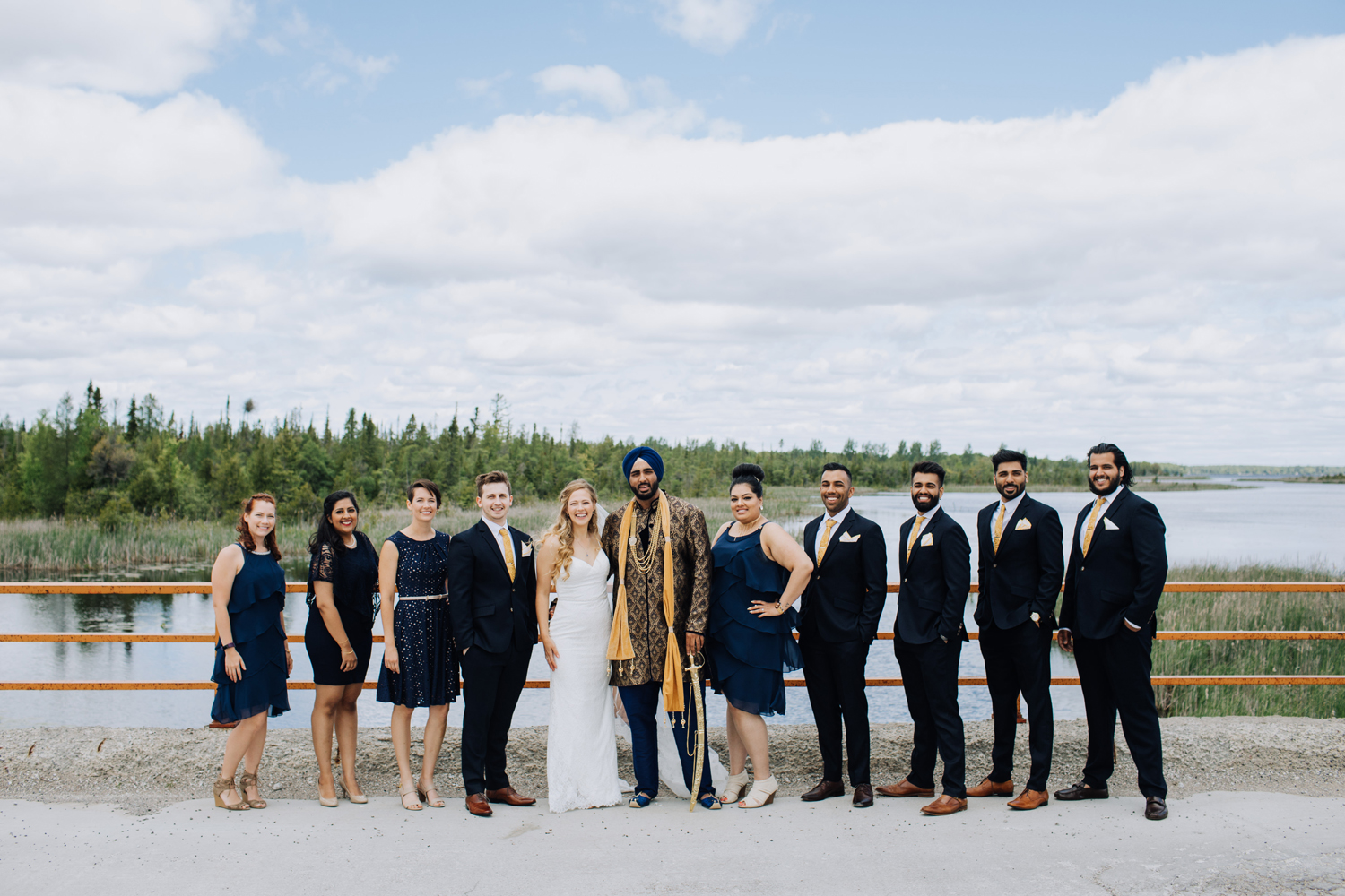 Fusion Wedding Bridal Party Group
