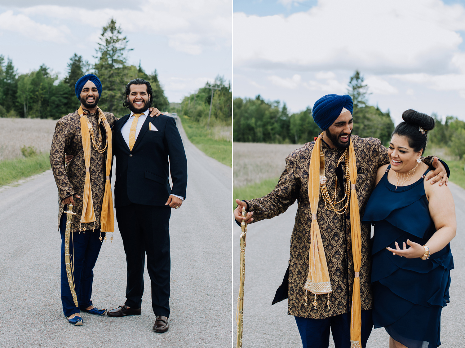 Groom in traditional Sikh attire. Fusion Wedding