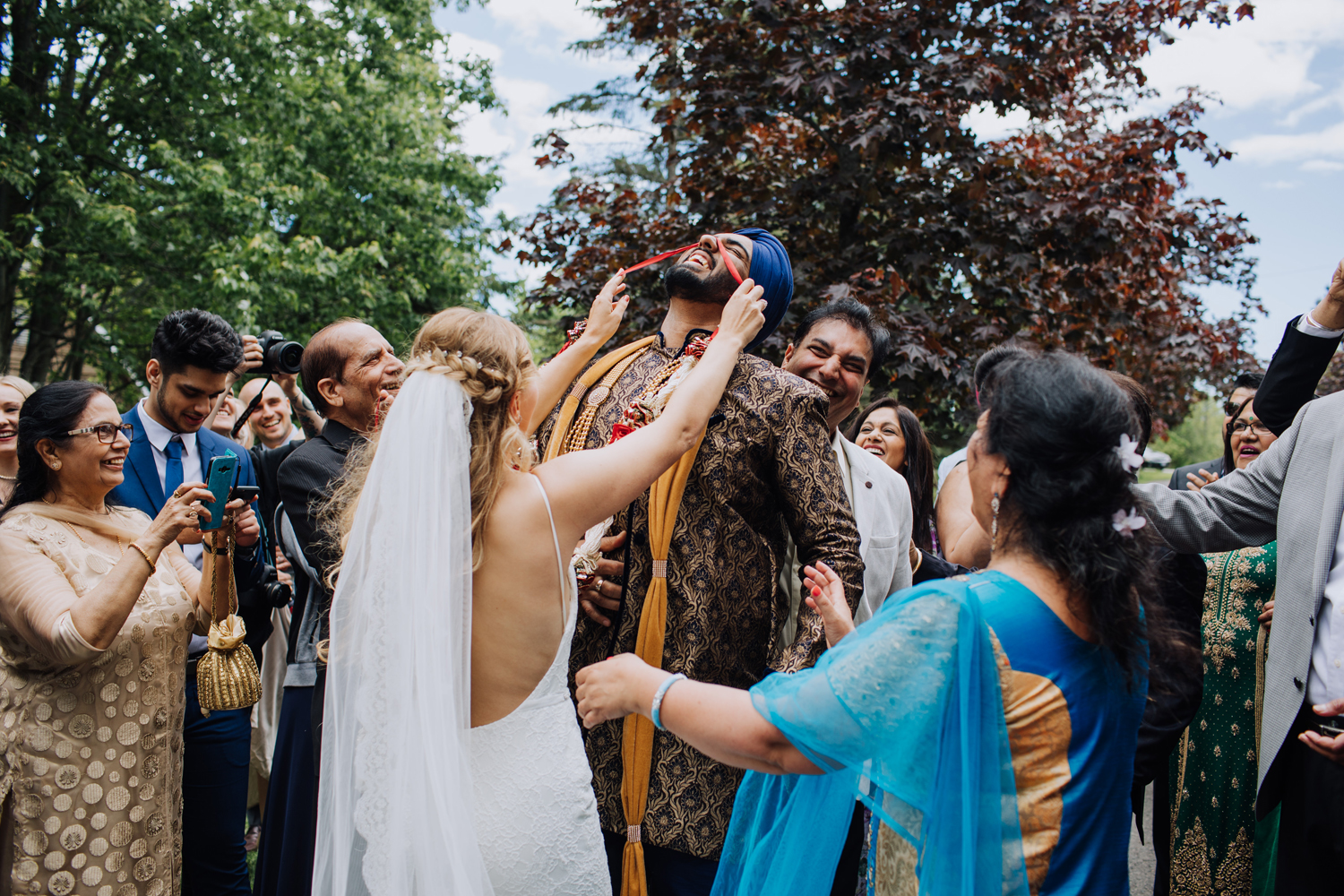 Sikh Indian Wedding Traditions. Games and dancing
